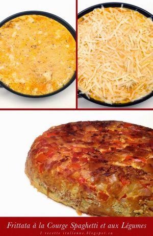 Recette Italienne: Frittata à la Courge Spaghetti et aux Légumes