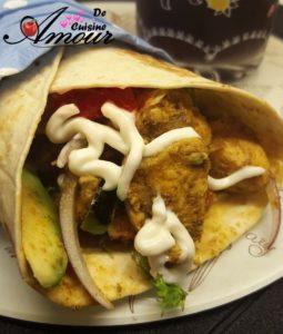 Recette Fajitas au poulet, les wraps ou les tortillas au poulet