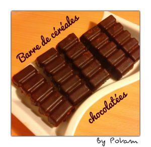 Recette Barres de céréales chocolatées