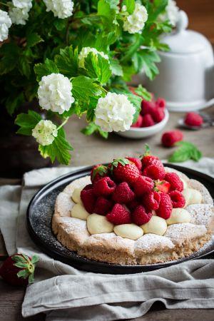 Recette Tarte dacquoise aux fruits rouges