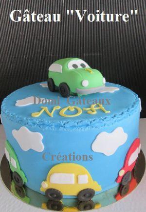 """Recette Gâteau """"Petites Voitures"""" en Pâte à Sucre"""