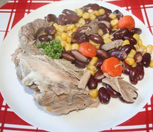 Recette Palette de porc aux haricots rouges et maÏs