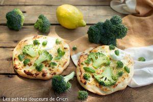 Recette Pizettes blanches au brocoli frais