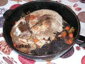 Recette Rouelle de porc aux champignons des bois