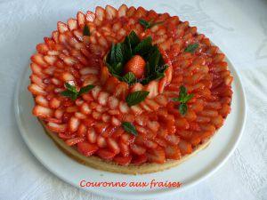 Recette Couronne aux fraises
