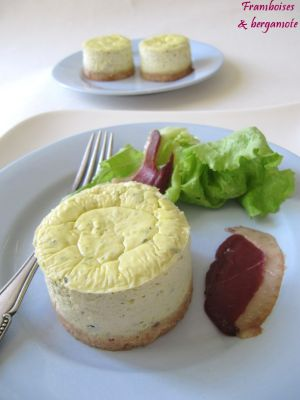 Recette Cheesecakes aux courgettes