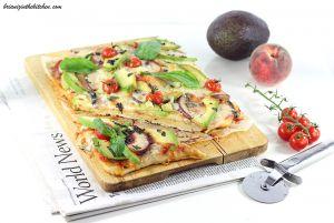 Recette Pizza Végétarienne {Avocat, Nectarine et Gorgonzola}
