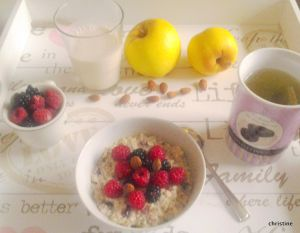 Recette Petit dèj. vitaminé aux graines de chia