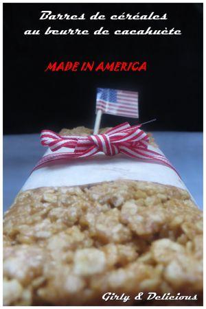 Recette Barres de céréales au beurre de cacahuète