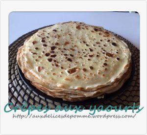 Recette Crêpes aux yaourts