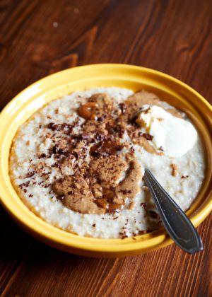 Recette Porridge chocolat noisette