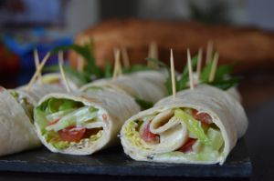Recette Wraps aux crudités et fromage frais