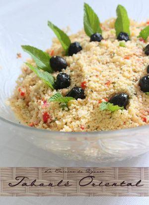 Recette Taboulé oriental à la semoule de couscous menthe et raisins