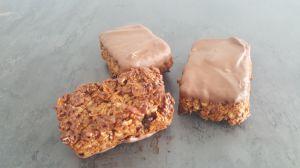 Recette Barres aux céréales nappés de chocolat