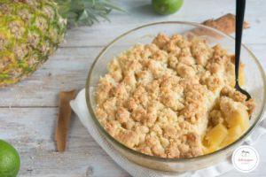 Recette Crumble ananas noix de coco : un dessert facile et rapide