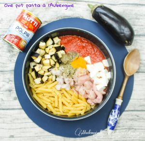 Recette One pot pasta à l'Aubergine