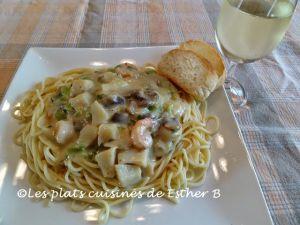 Recette Spaghetti aux fruits de mer