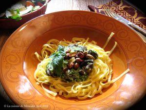 Recette Escargots au pesto velouté sur pâtes +