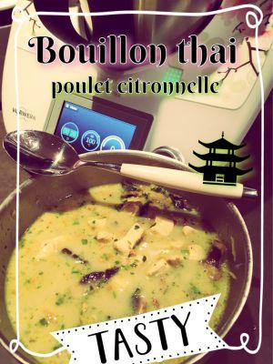 Recette Bouillon thaï poulet citronnelle - Milou en cuisine