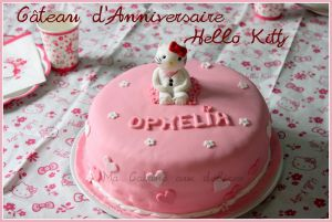 Recette Gateau Hello Kitty pate a sucre