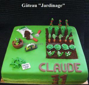 "Recette Gâteau ""Jardinage"" en Pâte à Sucre"