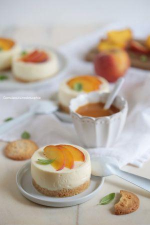 Recette Dessert façon cheesecake aux pêches