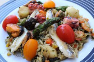 Recette Salade de riz aux Fruits de mer