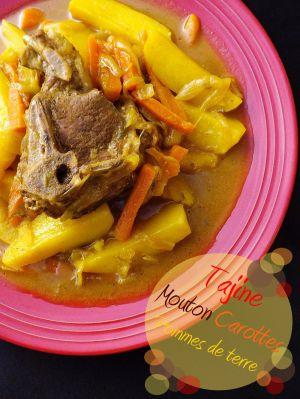 Recette Tajine de mouton, carottes et pommes de terre