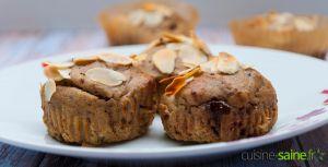 Recette Muffin healthy vegan sans gluten et sans sucre