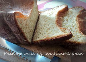 Recette Pain brioché en machine à pain