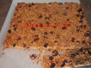 Recette Barres céréales