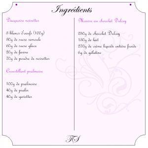Recette Entremets Dulcey, pralinoise et noisettes