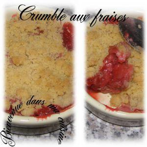 Recette Crumble aux fraises