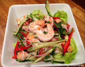 Recette Salade asiatique aux fruits de mer