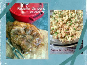 Recette Rouelle de porc en cocotte & semoule fantaisie