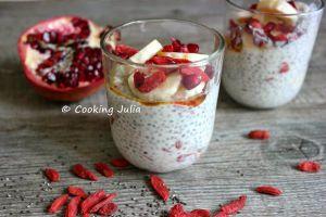 Recette Chia pudding aux baies de goji