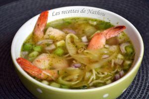 """Recette Soupe thaïe """"à ma façon"""""""