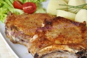 Recette Côtes de porc panées