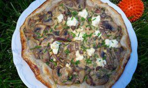 Recette Tarte aux champignons et fromage frais