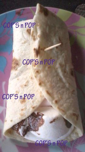 Recette Wrap Nutella chamallow