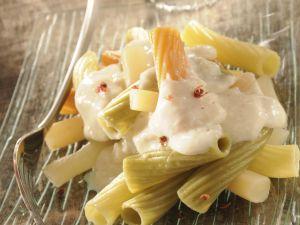 Recette Pâtes à la sauce blanche aux salsifis