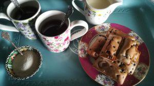 Recette Tea cakes aux myrtilles