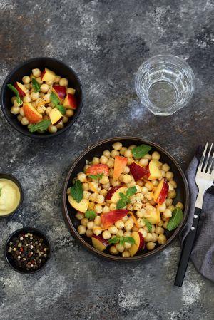 Recette Salade de pois chiches aux pêches