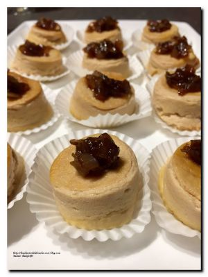 Recette Flan de foie gras et son confit d'oignon