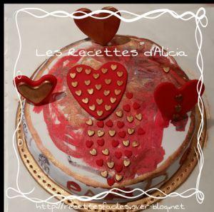 Recette Gâteau tableau pâte à sucre