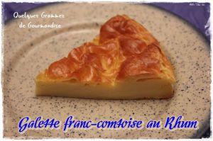Recette Galette franc-comtoise au Rhum