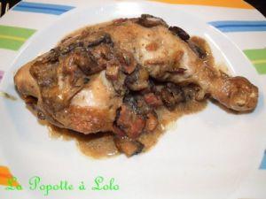 Recette Cuisses de poulet sauce Champignons