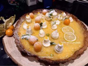 Recette Tarte citron-physalis