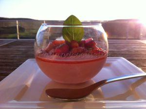 Recette Mousse aux fraises et son tartare de fraises au basilic
