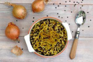 Recette Riz aux lentilles et oignons frits (mujaddara)